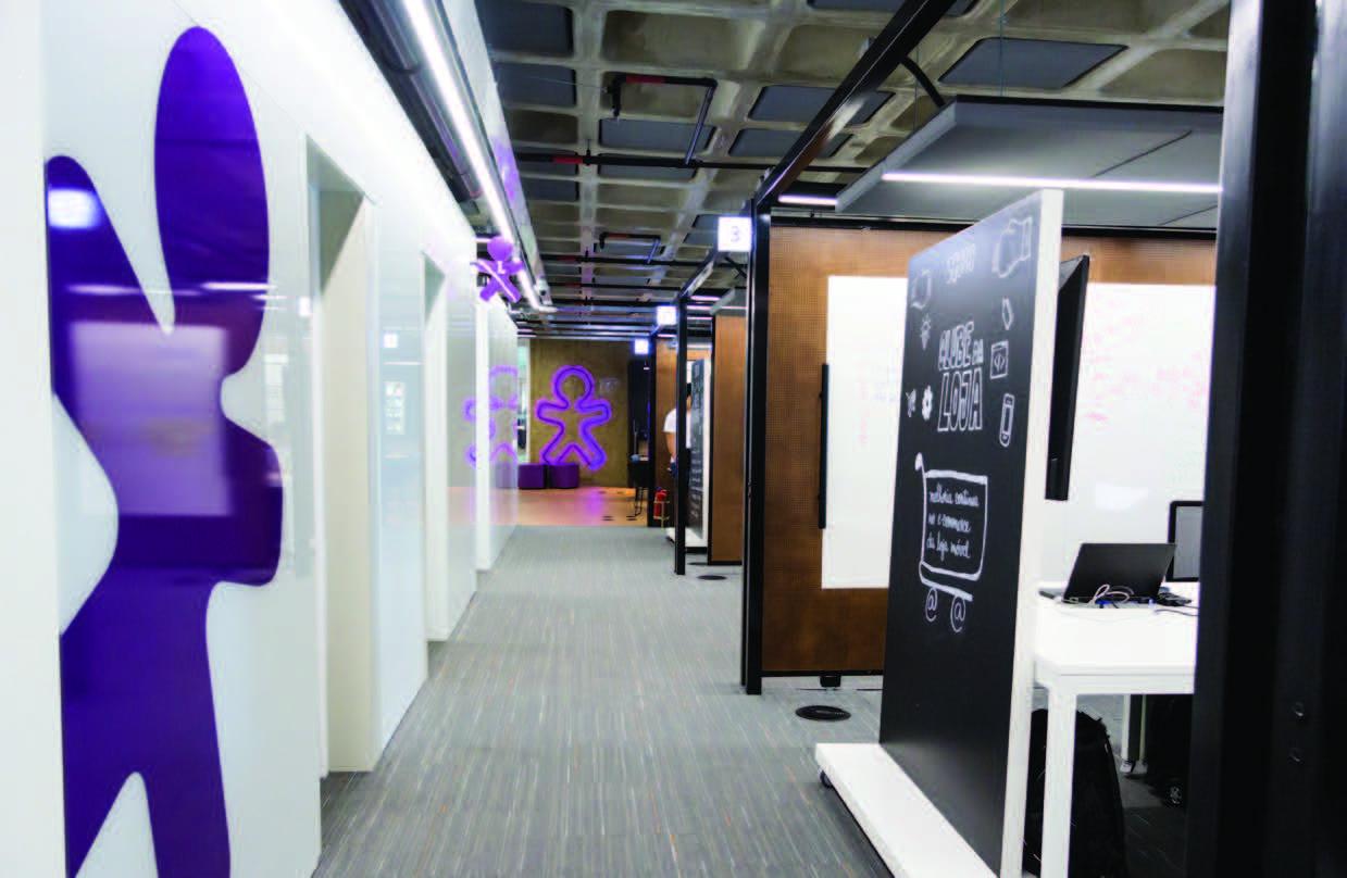 Ambiente do Vivo Digital Labs, que concentra os squads da Vivo;